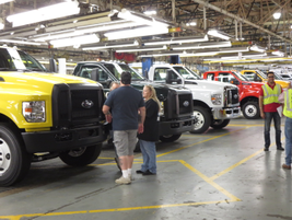 About 450 of the 1,400 workers at the plant are involved in F-650/750 production and additional...