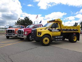 Until June, the F-650 and F-750 were assembled at a Navistar plant in Mexico. Ford powertrain...