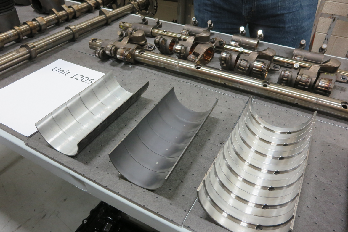 This table had parts from the experimental oil, which had a high-temp/high-shear rating of 3....
