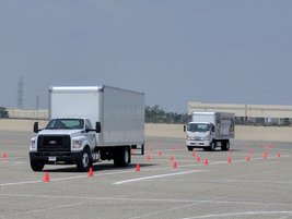 A course was set up for attendees to drive the FTR back to back with a competitive vehicle and...