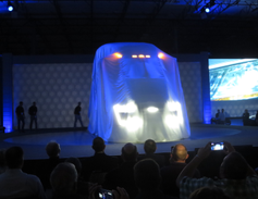 Unique nose styling with LED lighting shows even through the veil.