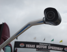 Fender-mounted cameras give drivers a better view than mirrors and offer less aerodynamic drag.