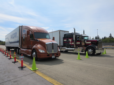 Kenworth's latest aerodynsmic tractor contrasted with the classic shape of the Icon 9000. Photo:...