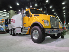 Kenworth says the T880S, a set-forward-axle version of the T880, is now in production and has...