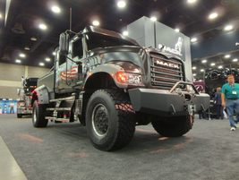 """Mack Trucks' Jack Mack is a customized mega-pickup, a """"what if"""" exercise highlighting some of..."""