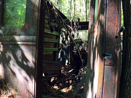 A look inside - and back in time. Photo: Christina Hamner