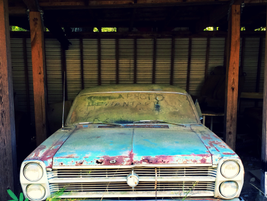 This Old Ford Fairlane was likely a wicked street racer back in its day. Photo: Christina Hamner