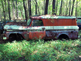 No more deliveries for this old Chevy panel van.Photo: Christina Hamner