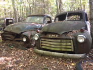 Two '50s-vintage rivals at rest. Photo: Jack Roberts