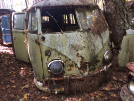 There are a few VWs on the property, including this old camper van. Photo: Jack Roberts