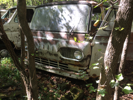 A Ford Econoline van at rest. Photo: Jack Roberts