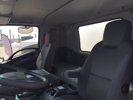 The interior was described as very familiar to those who have driven an Isuzu N-Series truck....