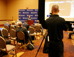 One of numerous press conferences announcing new products and services. Photo: Evan Lockridge
