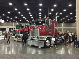Antique and classic trucks were on display at various locations throughout the exhibit halls....