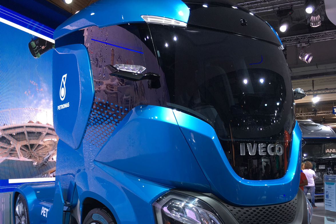 Italy-based truck maker Iveco revealed its Z Truck concept, which aims to attain zero-emissions...