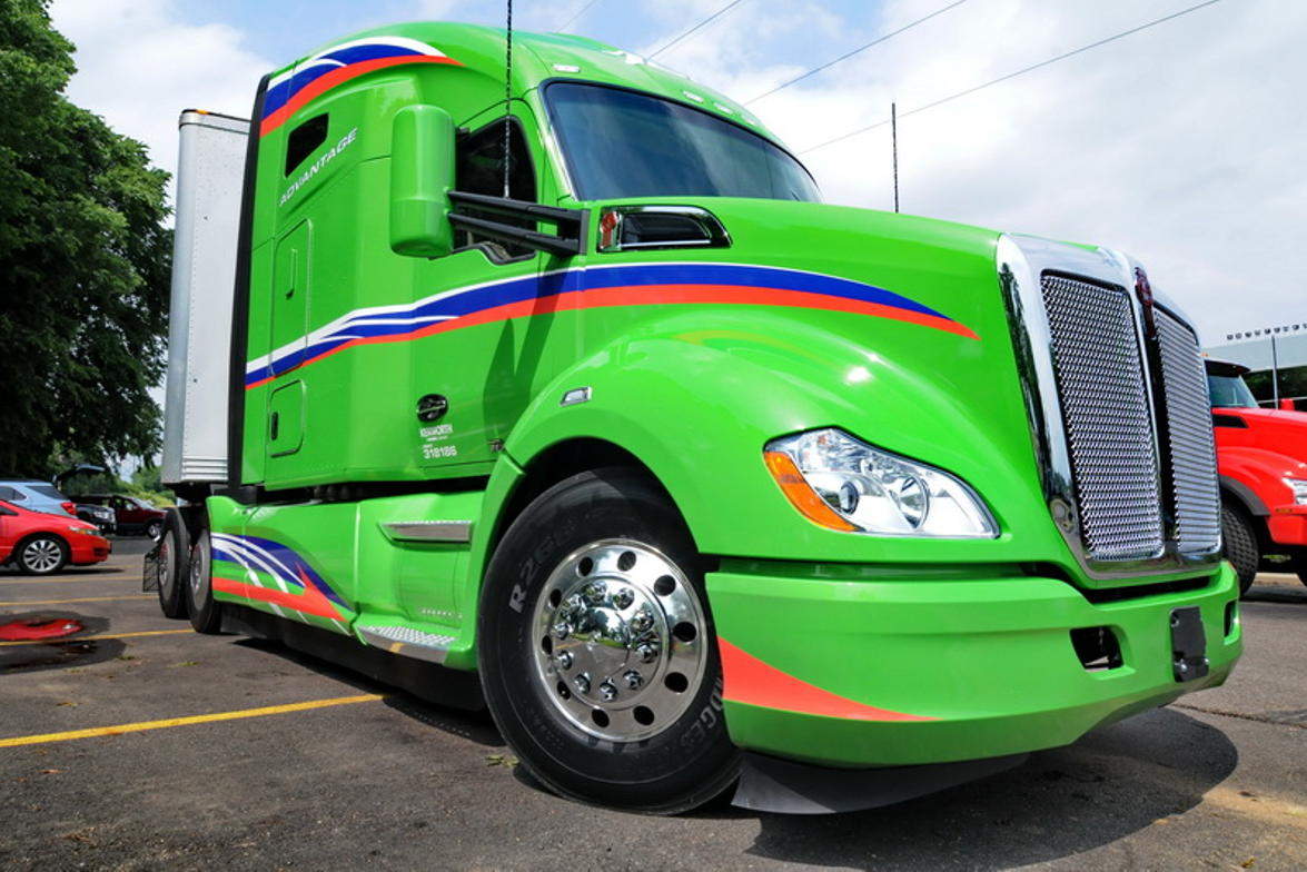 Kenworth claims the T680 Advantage is the most aerodynamic truck it has ever produced, boasting...
