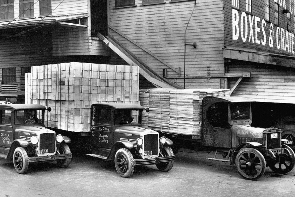 1920s: The 1920s saw many innovations in truck design. This early fleet illustrates the...