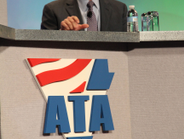 """ACT Research's Kenny Vieth speaks at the """"Eyes on the Economy"""" panel."""