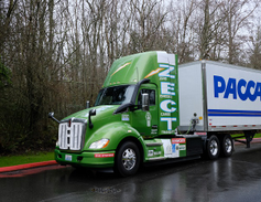 Kenworth's Zero Emissions Cargo Transport heavy-duty truck can haul 80,000 lb at 30-50 mph a...