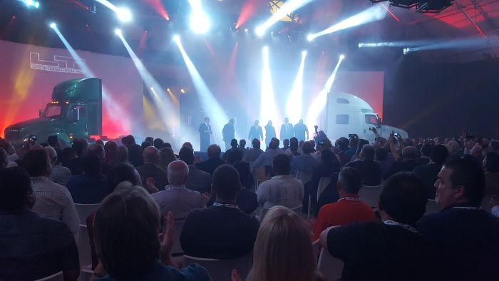 Navistar Launched its LT series model on Sept. 30 with speeches, rock music and other fanfare....