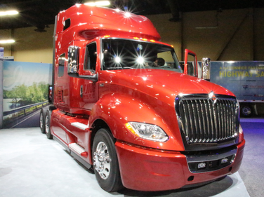The new International LT on display at the American Trucking Associations' annual Management...