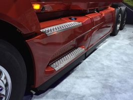 New cab side fairings contribute to LT's 3% better fuel economy compared to the ProStar. Photo:...
