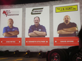 Three fleet drivers were featured during the launch because they hosted Navistar execs on runs...