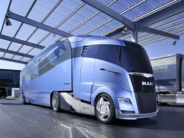 The huge IAA commercial truck show in Hanover, Germany, in 2012, included this eye magnet, the...