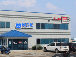 The 51,000 square foot Byron Center, Michigan location of M&K Truck Centers is a full-service...