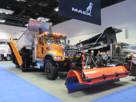 Mack announced new features for its Granite MHD truck and displayed this Bulldog of a Snowplow...