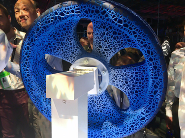 The star of the show was the Visionary airless tire-and-wheel concept revealed by Michelin June...