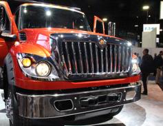 Navistar unveiled the new International HV vocational truck. Photo: Evan Lockridge