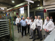 Road Team captains tour Volvo's NRV plant in January 2014.