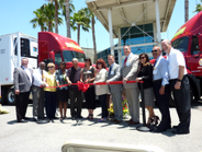 At the ribbon-cutting ceremony in Colton, Calif. on June 11, C.R. England welcomed the local...