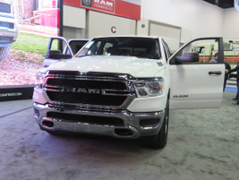 Shown at NTEA, the 2019 Ram 1500 Tradesman is available in two cabs — Quad Cab and Crew Cab —...