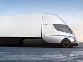 According to Musk, a 15-minute charge will add an additional 100 miles to the Semi's range in...