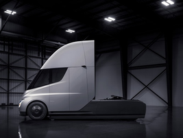For now, the Semi is only being offered in a day cab configuration. Photo: Tesla