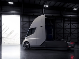 Tesla engineers determined that aerodynamics were important - even for electric trucks. Photo:...