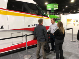 A Shell expert explains the finer points of the Starship truck to TMC members. Photo: Jack Roberts