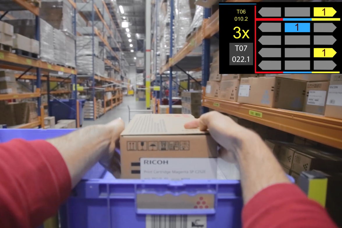 DHL pickers are equipped with advanced smart glasses, which visually display where each picked...
