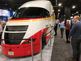 Shell's Starship concept truck draws crowds on the show floor. Photo: Jack Roberts