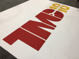 Logo welcomes attendees to the exhibit hall.Photo: Deborah Lockridge