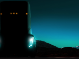 For most of 2017, this teaser image was all we had to go on with Tesla's promised Semi...