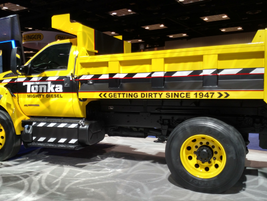 The Ford F-750 Tonka on the show floor.