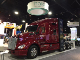 Local Atlanta refrigerated fleet Tribe Express was featured at the Aperia booth; Aperia's Halo...