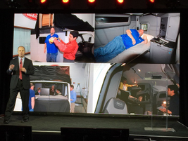 Peterbilt Chief Engineer Scott Newhouse talks about how engineers had drivers test out mockups...