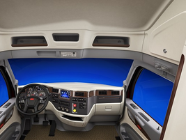 The Model 579 UltraLoft starts in the cab, where there's plenty of room to move from the...