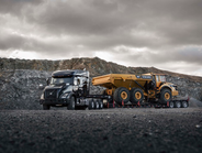Available rear axles range from 46,000 to 55,000 pounds, and the premium rear heavy-haul...