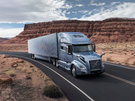 Volvo Trucks North America revealed its new Volvo VNL series highway tractor, available in...
