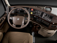The VNX features Volvo's full-size daycab equipped with the company's ergonomic dash, ample...